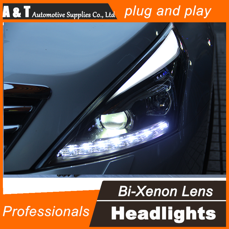 Car Styling for Nissan Teana LED Headlight 2012 Altima Headlight DRL Lens Double Beam H7 HID Xenon bi xenon lens hireno headlamp for 2013 2015 nissan tiida headlight assembly led drl angel lens double beam hid xenon 2pcs