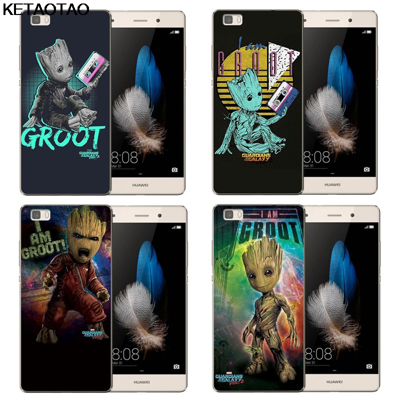 KETAOTAO Guardians Of For The Marvel Galaxy Phone Cases for iPhone 4S 5S 6 6S 7 8 Plus X Case Crystal Clear Soft TPU Cover Cases