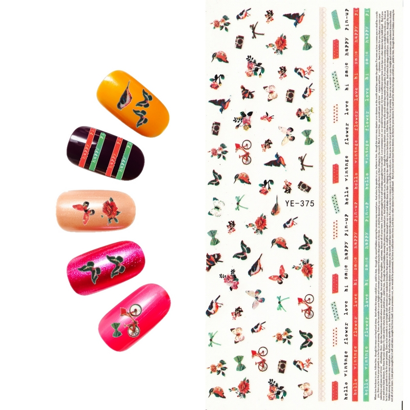 Stickers & Decals 6 Pack/ Lot Water Decal Nail Art Nail Transfer Sticker Marine Conch Mermaid Squirrel Yu573-578 Sale Overall Discount 50-70% Nails Art & Tools