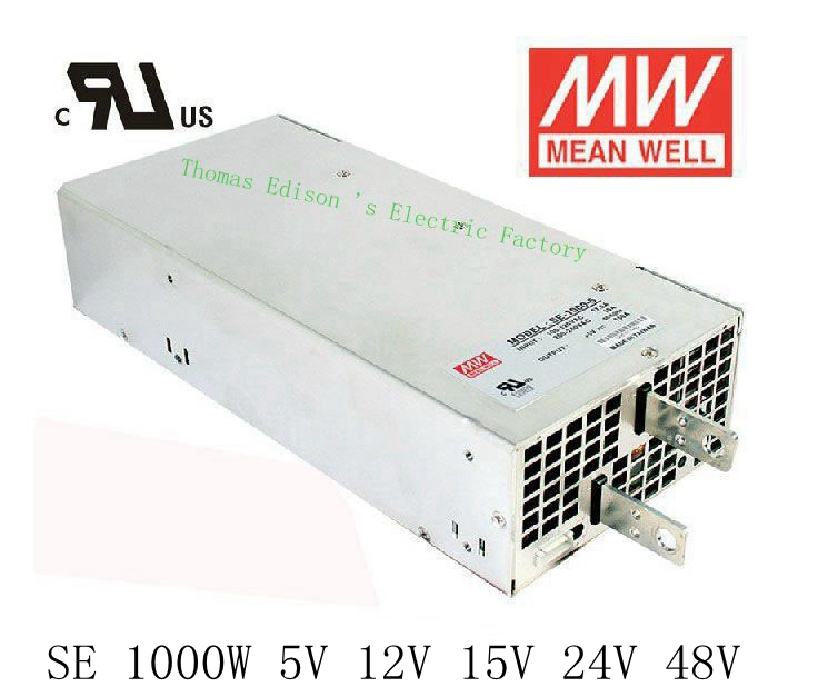 Original MEAN WELL power suply unit ac to dc LED power supply 750W 5V 150A 1000W 12V 83.3A 15V 66.7A 24V 41.7A 48V 20.8A 1pcs 1000w 48v 20a switching power supply 48v20a led strip light ac to dc power suply 48v 1000w s 1000 48