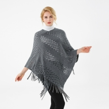 LARRIVED 2019 Luxury Cape Femme Poncho Women Capes Cloak Hood Long Tops Casual Solid Style Coats Ponchos Female Outdoor Wear
