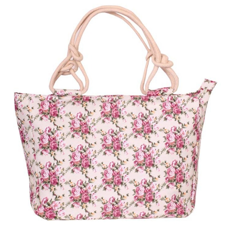 Fashion Folding Women Big Size Handbag Tote Ladies Casual Flower Printing Canvas Graffiti Shoulder Bag Beach Bolsa Feminina 11