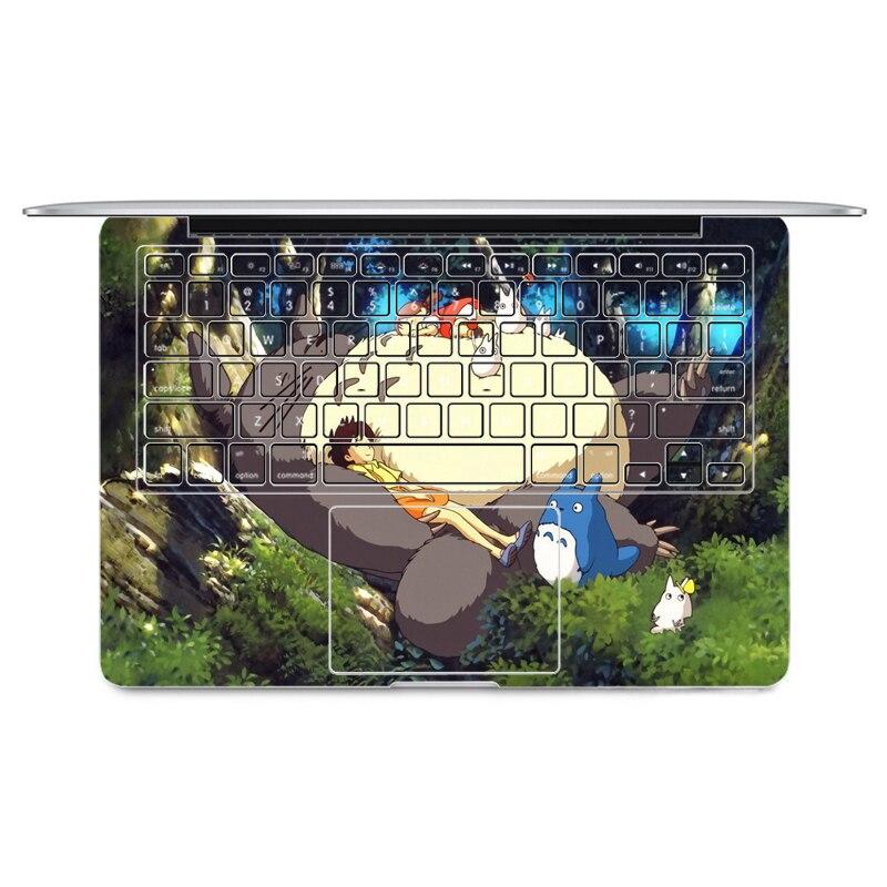 YCSTICKER - Laptop Sticker Keyboard Side Full Vinyl Decal Lovely Totoro Skin For Macbook Air Pro Retina 11 12 13 15 Sticker