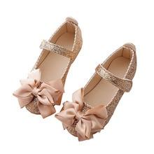 Flowers Children Toddler Baby Little Girl Kids Sequins Bowknot Dress Shoes For G