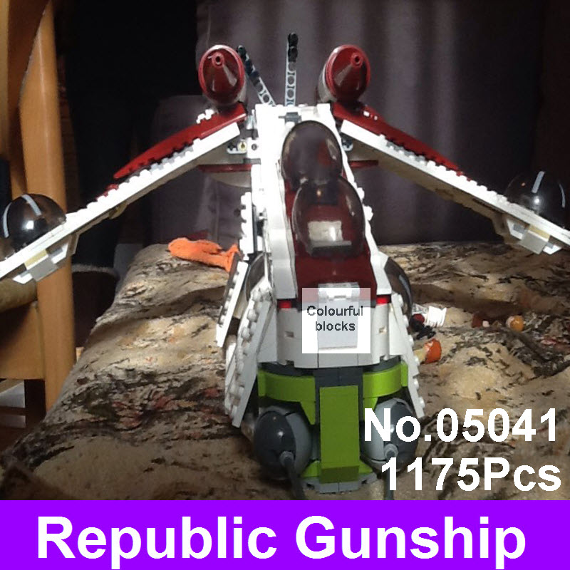 Lepin 05041 Star Genuine War Series The Republic Gunship Set Educational Building Blocks Bricks Children Toys Compatible 75021 victorian america and the civil war