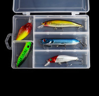 Free Shipping Top Water Fishing Lure Kit Float Pencil Popper Crank Wobbler Minnow Artificial Lures Hard