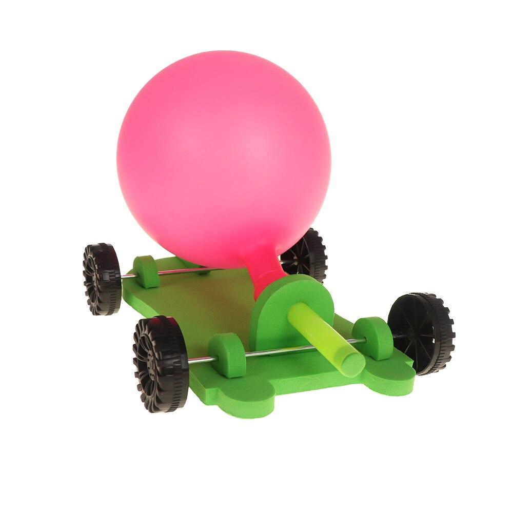 1 * Model Building Kits Grappig Diy Ballon Reactie Auto Science Experiment Speelgoed Kinderen Educatief Innovatieve Speelgoed Kids Gift Betrouwbare Prestaties