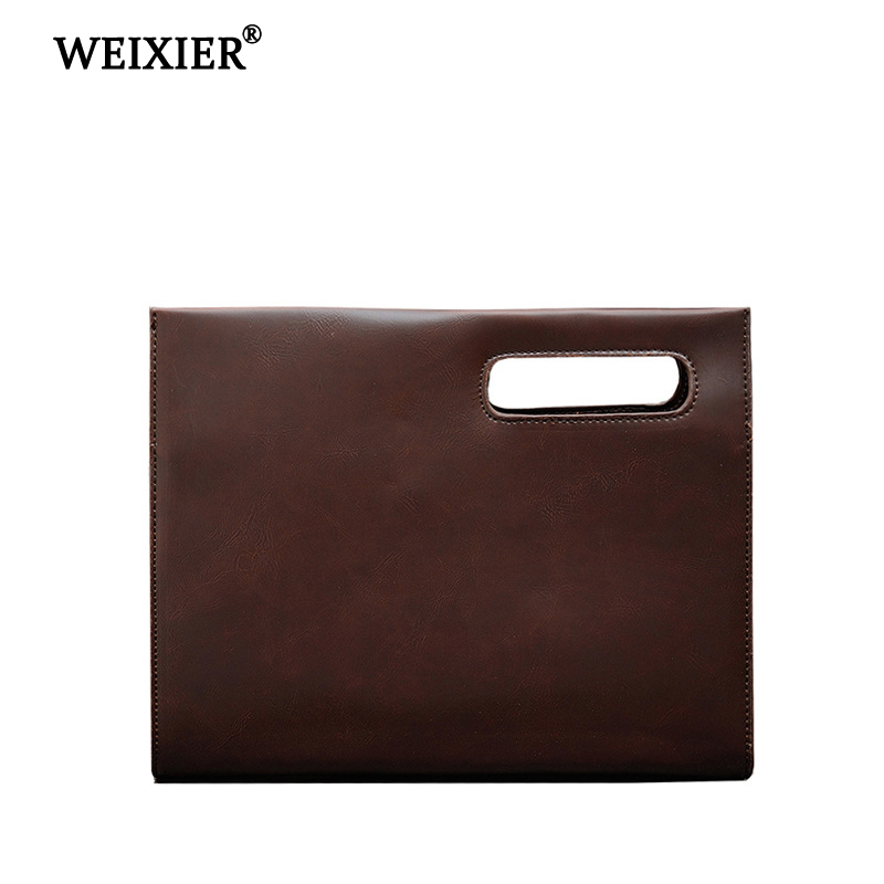 WEIXIER 2019 Simple Brand Hot Sale Retro PU Business Men 39 s Messenger Bag Shopping Travel Mobile Phone Pocket Money Messenger Bag in Crossbody Bags from Luggage amp Bags
