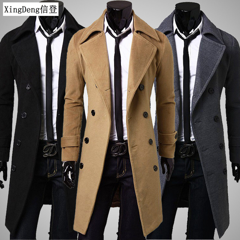 Xingdeng Fashion Men Quality Cotton Jacket Brand Clothing Long Coat Top Overcoat Winter Long Coat Men Casual Warm Wind Coats 4xl Delicacies Loved By All Men's Clothing Jackets & Coats
