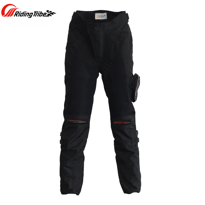 Riding Tribe Summer Motorcycle Riding Pants Off-road Breathable Automobile Race Pants Net Fabric Wear-resistant With Knee pads