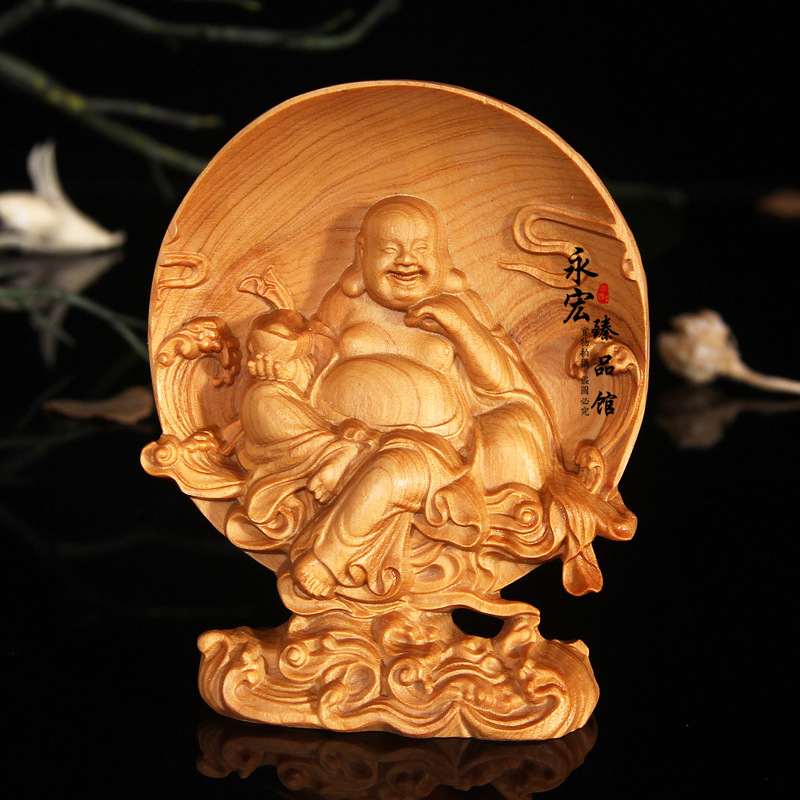 Wood carving Buddha character generals dolls, desktop Decoration home decorations ornaments(A007)