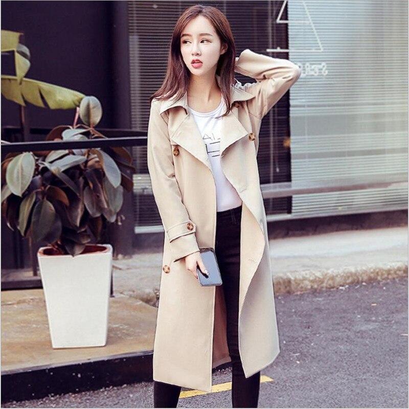 Nouveau Baggy Long manteau Trench femmes Double boutonnage décontracté coupe-vent femmes automne chaud de haute qualité vêtements d'extérieur femme DS5076
