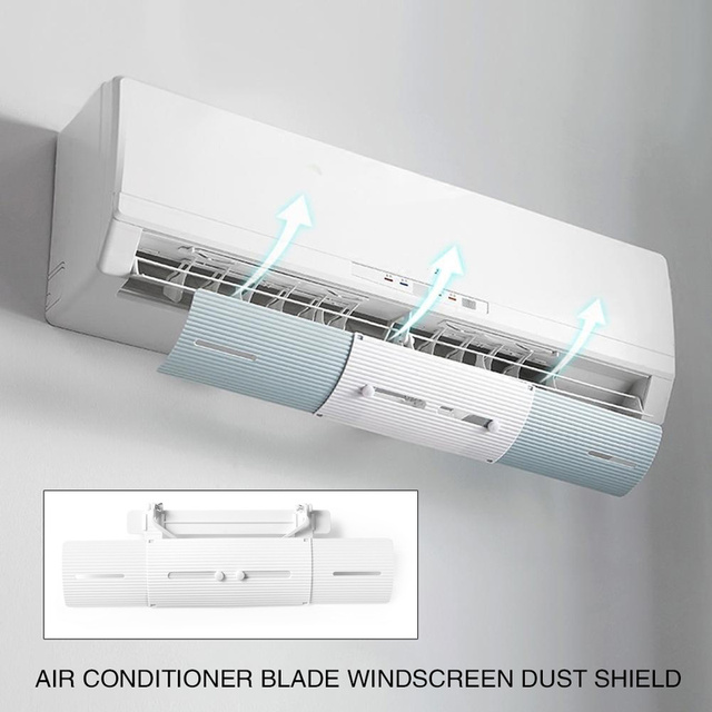 Aire acondicionado ajustable parabrisas Deflector Anti-viento escudos viento guía recto escudo Deflector acondicionador de aire