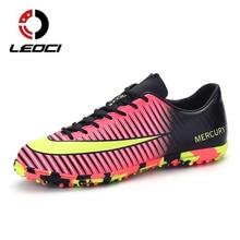 LEOCI New Men Soccer Cleats TF Soccer Shoes Teenager Voetbal Training font b Football b font