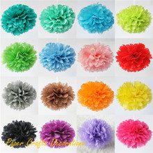 34 Colors 4inch 10cm Small Size Tissue Paper Pom Pom Flower Rose Ball Hanging font b