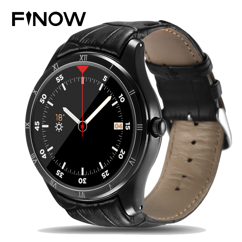 Finow Q5 montre intelligente hommes Android 5.1 MTK6580 Bluetooth SmartWatch 1.39 pouces OLED affichage SmartWatch IOS relojes montres Android