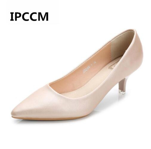 OL Woman Shoes Genuine Leather inside Low Heels Women Pumps Stiletto Thin Heel Women's Work Dress shoe Pointed Toe Wedding Shoes pointed toe women low heel work shoes girls sweet strappy dress shoes ladies heel shoes femal comfortable wedding shoes h264