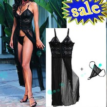 Free Shipping lenceria Sexy Lingerie sexy underwear Babydoll Sleep Wear Nightdress hot erotic lingerie dress