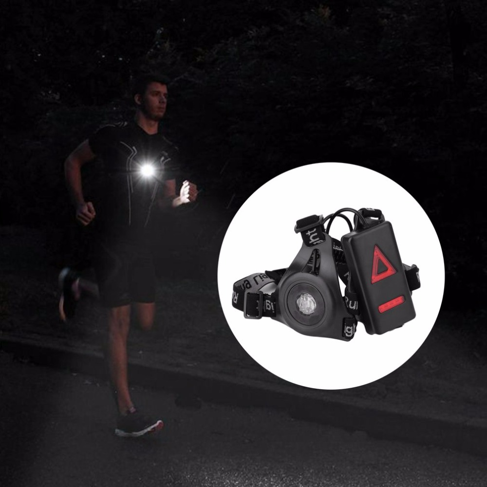 Outdoor Sport Running accessory Lights LED Night Running bag Flashlight Warning Lights USB Charge Chest Lamp White accessory 13