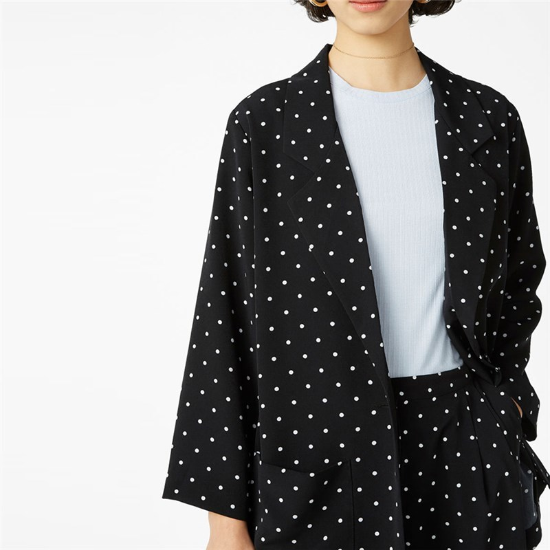 Plus Size Western Style fashion loose dotted single button long sleeve 3XL-7XL large size overweight Woman's Casual blazers