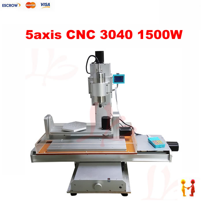 5 axis cnc 3040 pillar type engraving machine 1500W Table Column Type woodworking Ball Screw cnc router