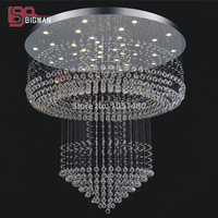 New Holiday Sales Modern Luxury Chandelier Crystal Hotel Lobby Chandelier Lighting Dia800 H2000mm Guarantee 100