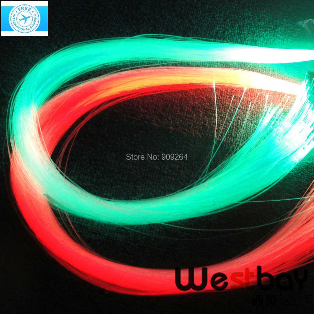 Free shipping PMMA optic fiber strans 1 5mm 100pcs X2meter for led light illuminator light source