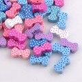 Bowknot cor misturada Padrão De Madeira Spacer Beads Para fazer Jóias 21x11mm 50 pcs MT1412X