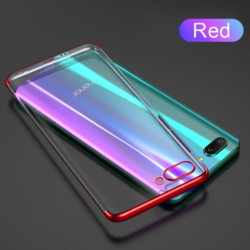 Роскошный ультра-тонкий ТПУ чехол силиконовый мягкий чехол для huawei mate30 P30lite P20lite Nova5T Honor 9X V20 P30 P20 чехол Funda - Цвет: Красный