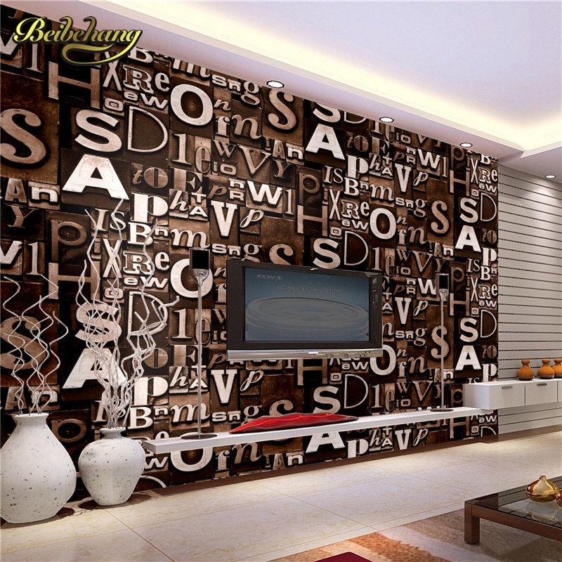 beibehang papel de parede letters flocking non-woven wallpaper roll mural vinyl home decor bedroom living room 3D wall paper colomac modern 3d striped non woven vinyl pink living room wallpaper roll thicken bedroom tv background decor wall paper roll