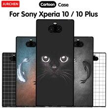 JURCHEN قضية الهاتف لسوني اريكسون 10 حالات لسوني اريكسون 10 Plus سيليكون الكرتون لينة غطاء لسوني Xperia10 10 Plus
