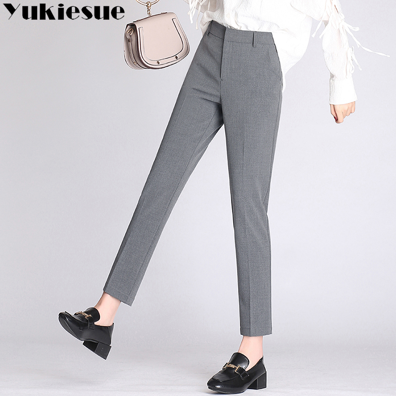 OL suit   pants     capris   women 2018 summer Office work wear high waist casual harem   pants   female trousers Plus large size XXXXL