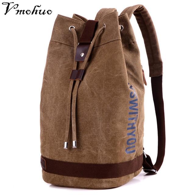 VMOHUO Large Capacity Rucksack Man Travel Bag Mountaineering Backpack Men Canvas Bucket Shoulder Bags Male Canvas Backpacks