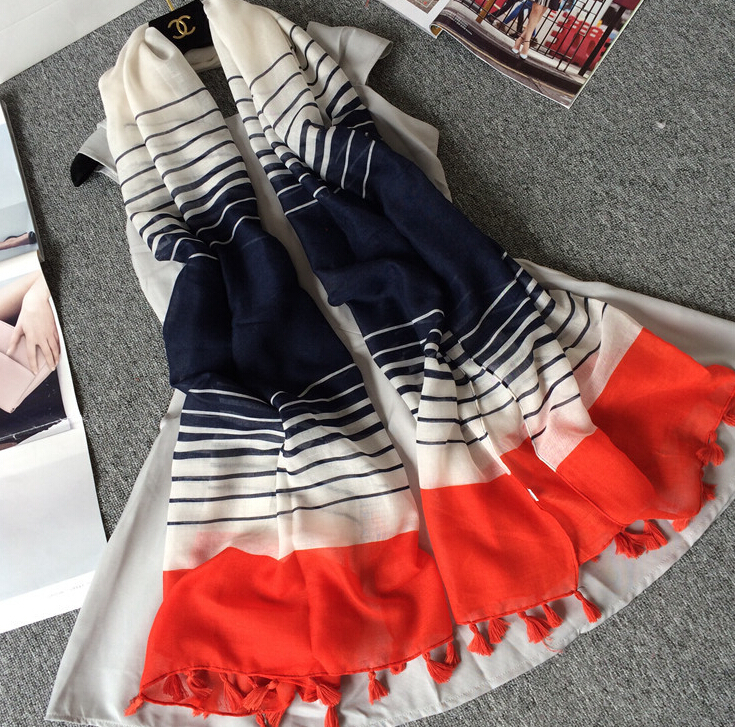 6d0157be2dda Nouveau design fille de printe bande ombre couleur viscose châles glands  musulman tête wrap populaire hijab wrap foulards écharpe 10 pcs lot