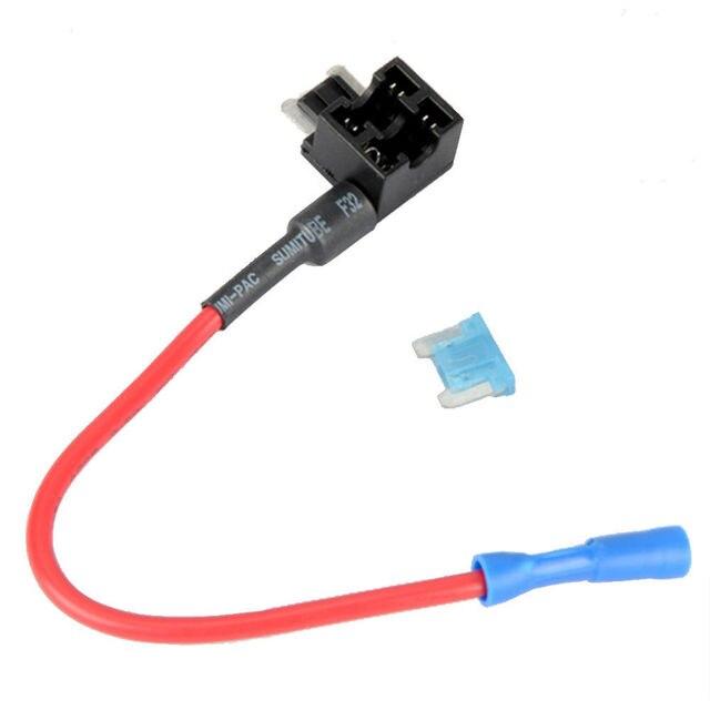 EE unterstützung Neue Auto Styling ACN TAP Mini Add-a-circuit ATM Low Profile Klinge Stil Sicherungshalter + 15A Sicherung XY01