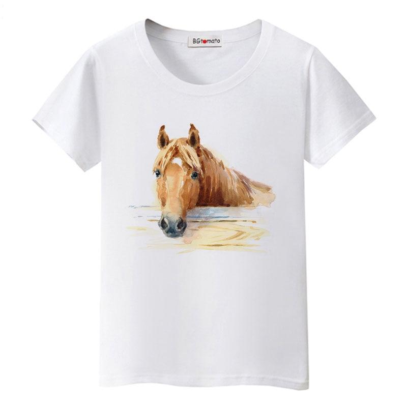 0f26c1ea BGtomato Super cool 3D horse tshirt cool summer tops hot sale funny tees  original brand casual
