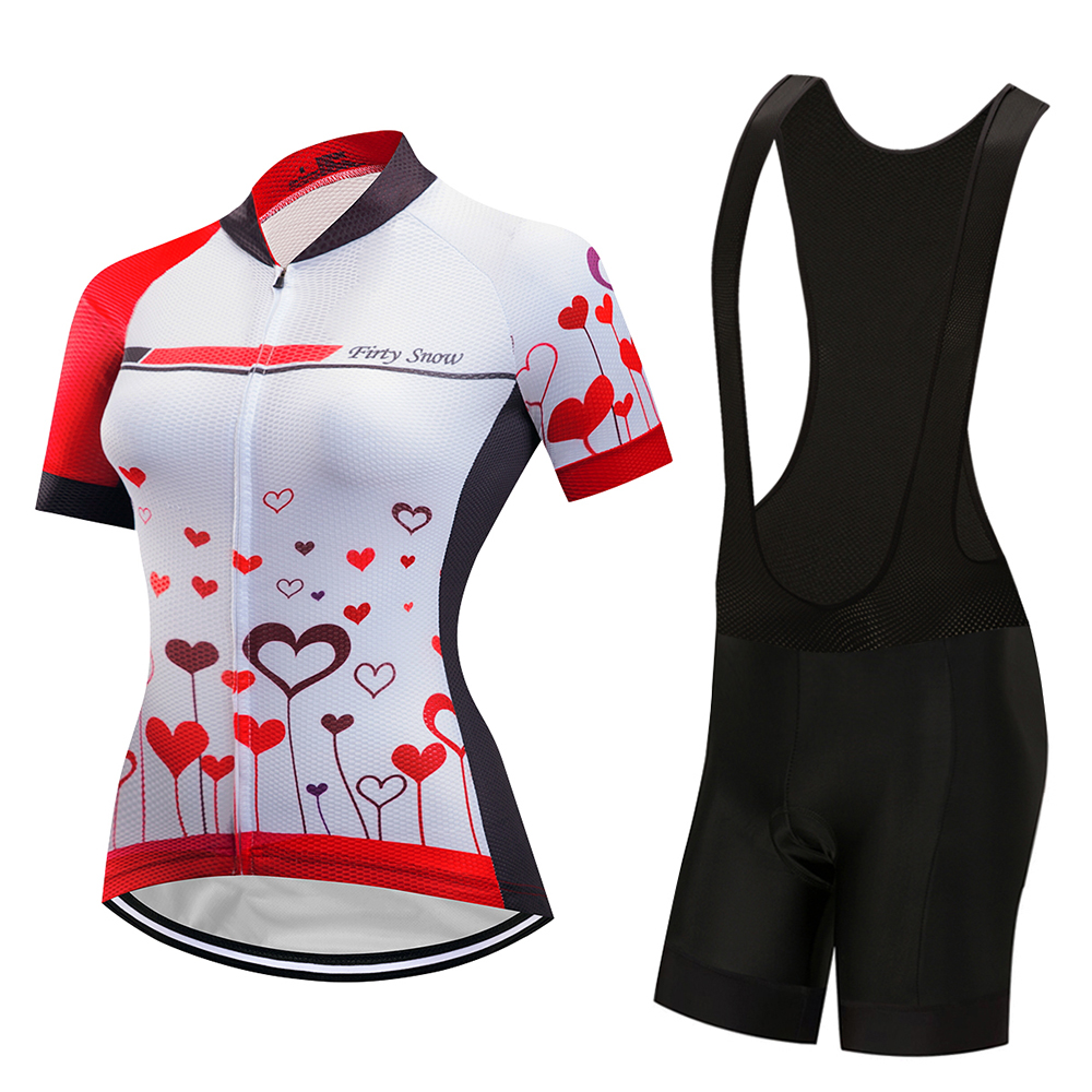 Breathable women cycling jersey set 2018 bicycle clothing mtb maillot bike  clothes short sleeve dress triathlon uniform suit kit-in Cycling Sets from  Sports ... 18bee4bdf