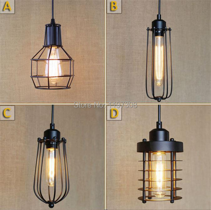 Vintage retro antique American industry's creative personality Edison bulb pendant lights brief hanging pendant lamps diy vintage lamps antique art spider pendant lights modern retro e27 edison bulb 2 meters line home lighting suspension