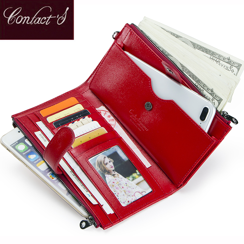 Contact's 2018 New Women Wallets Genuine Leather Long Design Clutch Coin Holder Ladies Wallet Zipper&Hasp Wallet High Quality 2017 new casual women leather wallet zipper long hasp thin wallet purses card holder high quality ladies clutch coin purse