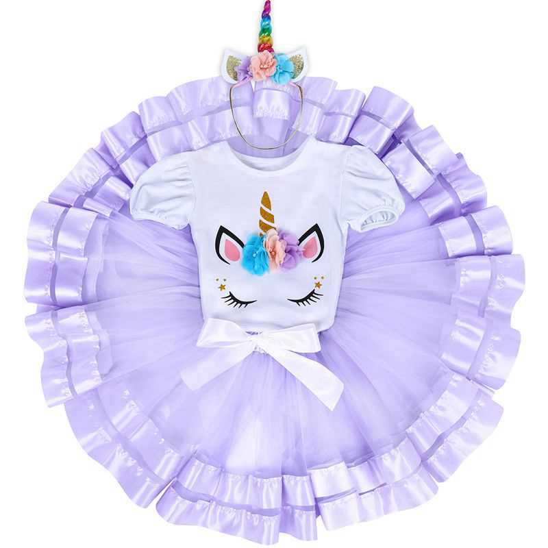 ef2ac41679c7a 2pcs Set Unicorn Flower Cake Smash Outfit for Baby Girls 1st Birthday Gift  Baby Bodysuit Tutu Tulle Skirt Cute Baby Girl Clothes - aliexpress.com -  imall. ...