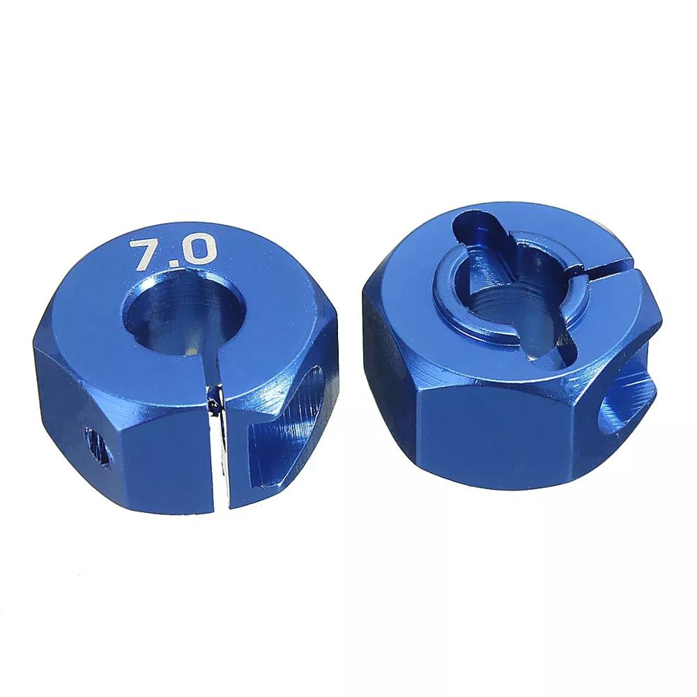 RC Aluminum 7 0 Wheel Hex 12mm Drive 4P for HSP HPI Tamiya RC MODEL Car in Parts Accessories from Toys Hobbies