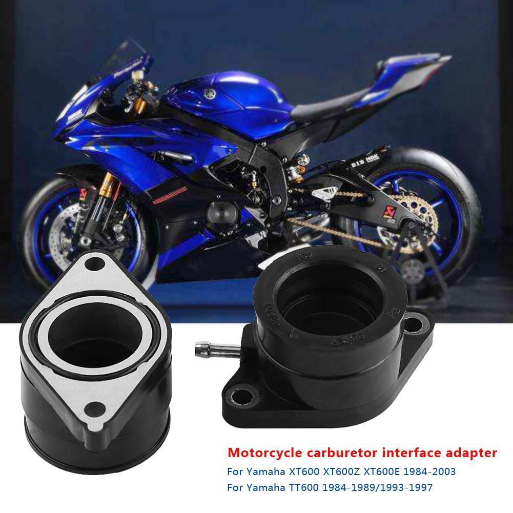 1 Pair Motorcycle Carburetor Interface Adapter Intake Manifold for Yamaha XT600 XT600Z XT600E 1984 - 2003 TT600 84-89