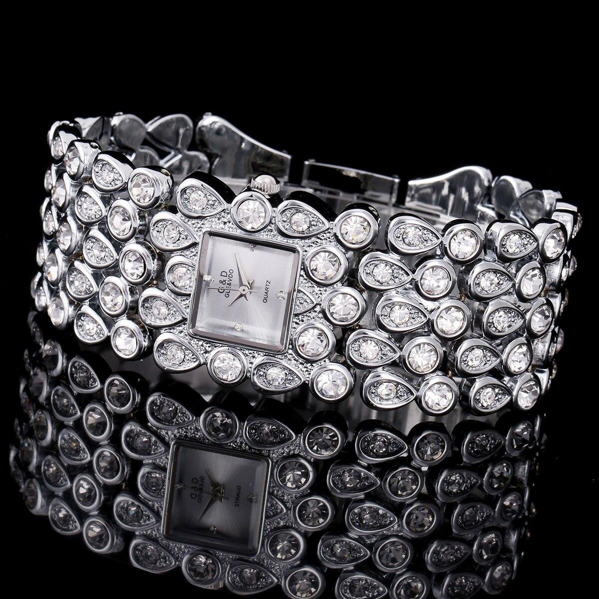 2017 G D GLE VDO Brand New Luxury Women s Bracelet Wristwatches Quartz Watch Crystal Lady