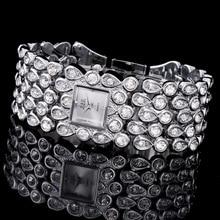 2017 G&D GLE&VDO Brand New Luxury Women's Bracelet Wristwatches Quartz Watch Crystal Lady Dress Watch Relogio Feminino Silver