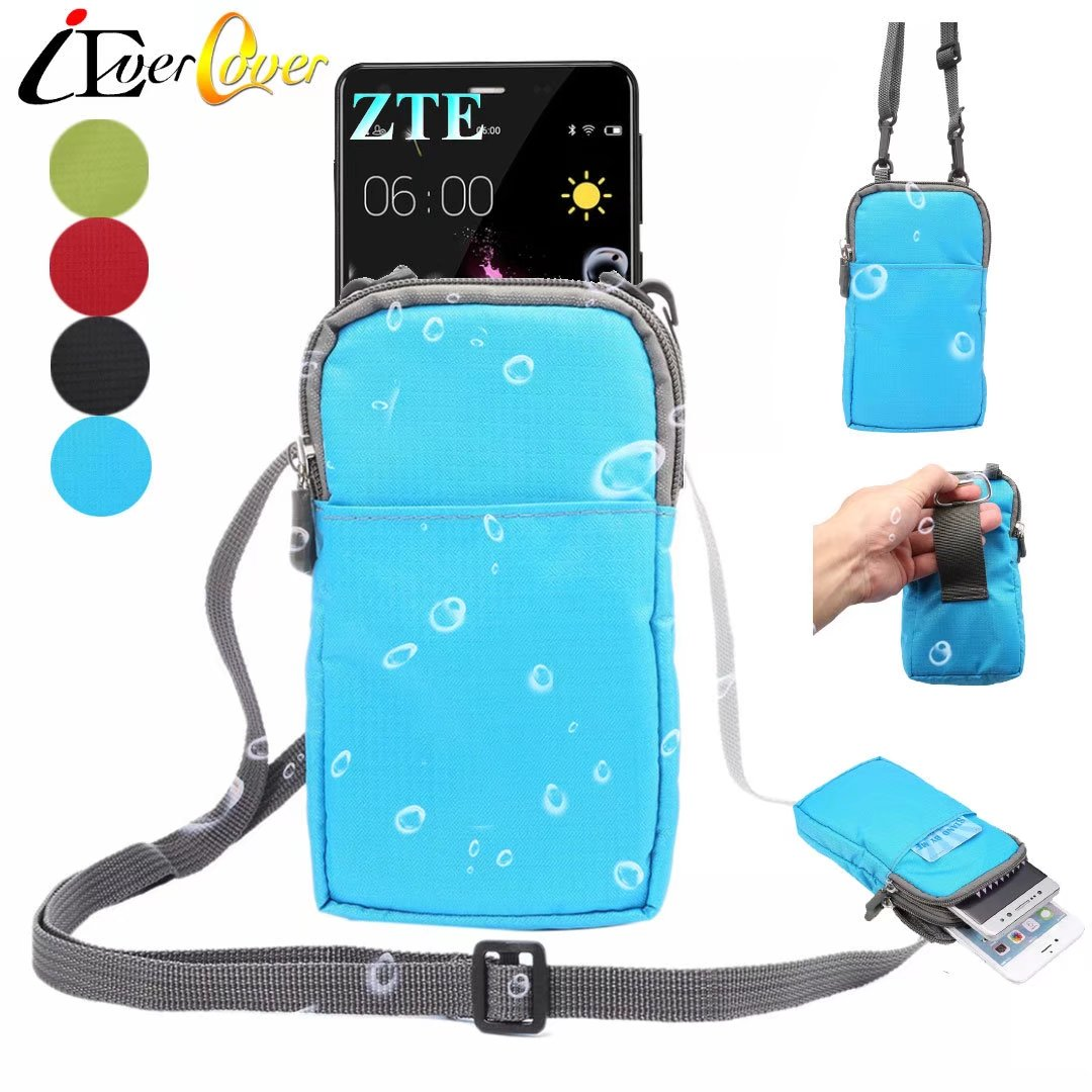 detailed look 49ad6 d7194 US $3.78 5% OFF|Waterproof Nylon Pouch Case for ZTE Zmax Grand LTE , Avid  916, Zmax Champ , Prestige 2 , Blade V8 Pro Crossbody Waist Wallet Bag-in  ...