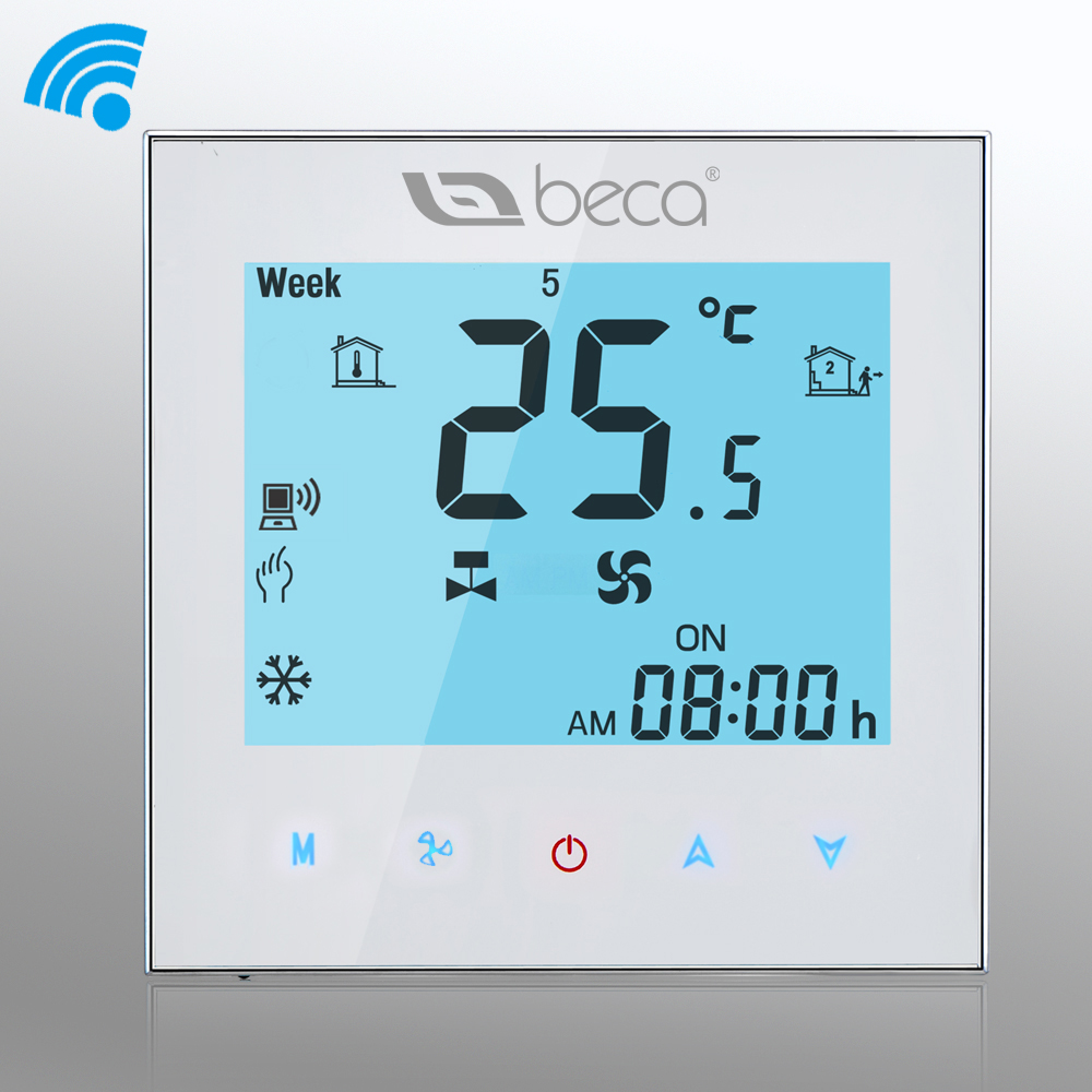 Factory Sellbeca Wifi Thermostat 95240vac Weekly Programmable Two Air Conditioner Beca Pipe Central Conditioning Room Fan Coil Hvac In Conditioners From Home Appliances