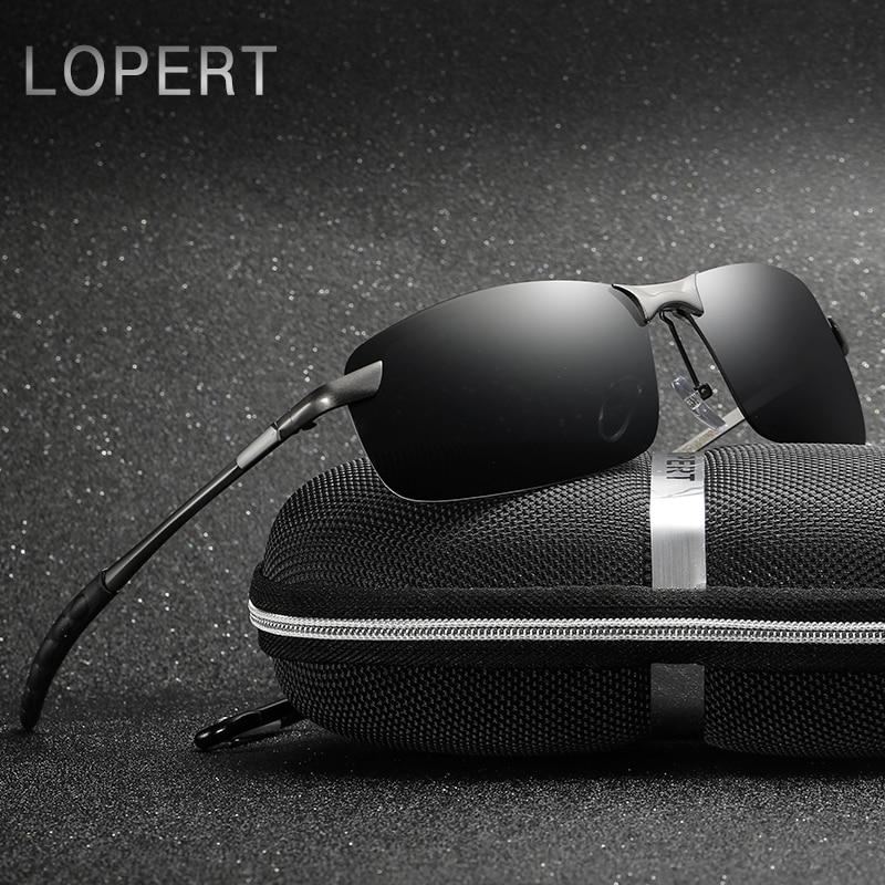 LOPERT Polarized Aviator saulesbrilles vīrieši zīmola dizaineri - Apģērba piederumi