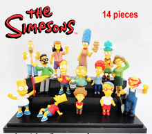 Anime model 6 12cm 14pcs set The simpsons New simpsons family collection figure font b toy