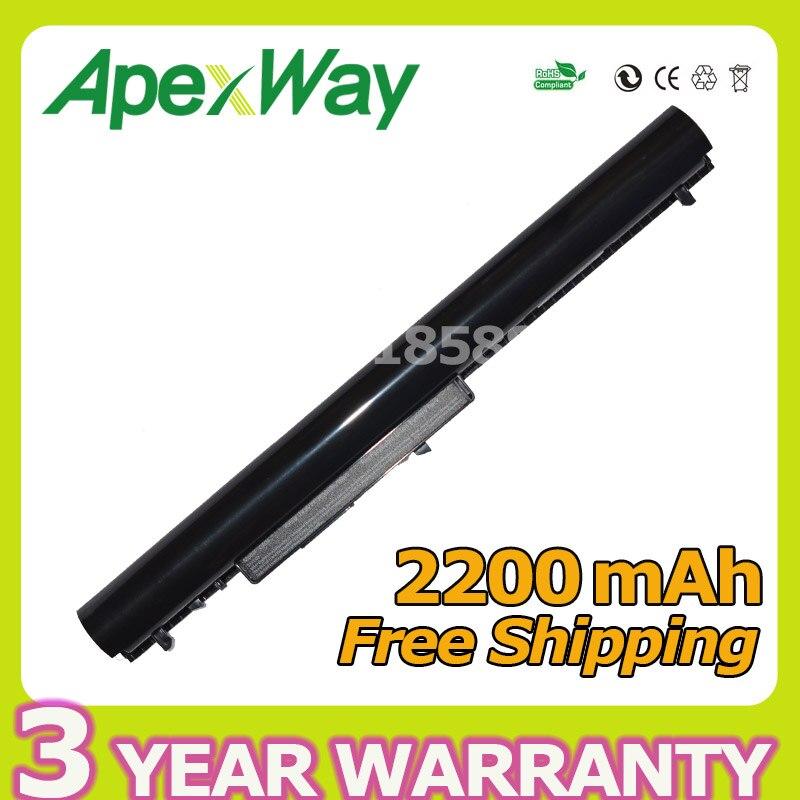 Apexway 4 cells Laptop Battery for HP OA04 OA03 240 G2 CQ15 CQ14 For Compaq Presario 15-S000 HSTNN-LB5Y HSTNN-LB5S HSTNN-PB5Y блок питания zip 19 5v 3 33a 65w 435096 для hp envy 15 compaq 14 a000 14 s000 14 s100 15 s000 15 s100 15 s200