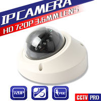 POE Port 1 0MP Mini Dome Camera Network Security 20M IR Digital HD 720p Ip Camera